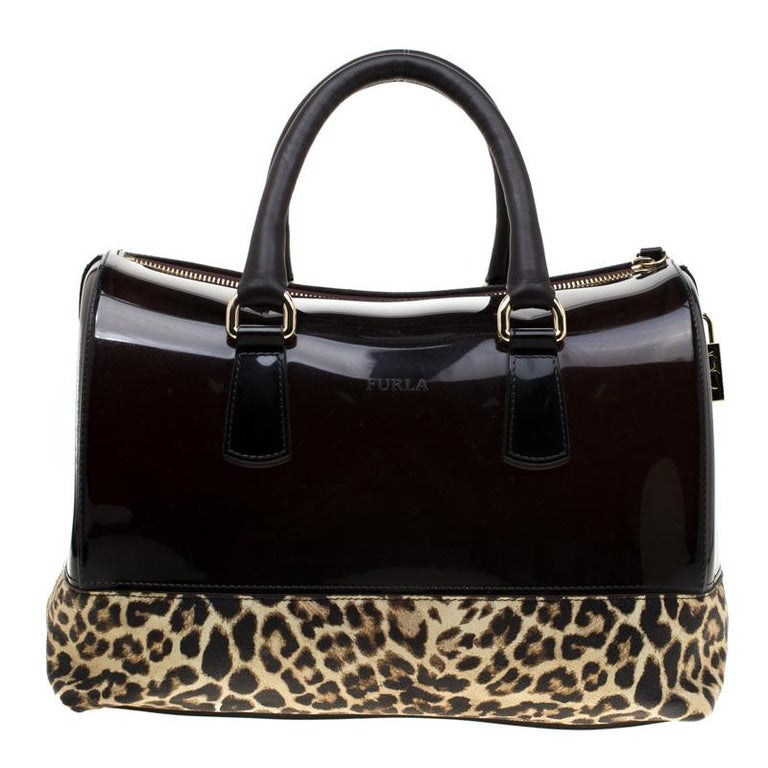 great look offer discounts good out x Furla Leopard Print Rubber and Leather Candy Satchel