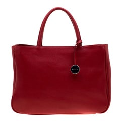 Furla Red Leather Sally Tote