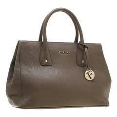 Furla Taupe Leather Linda Tote