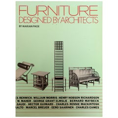 Furniture Designed by Architects by Marian Page, First Printing Paperback
