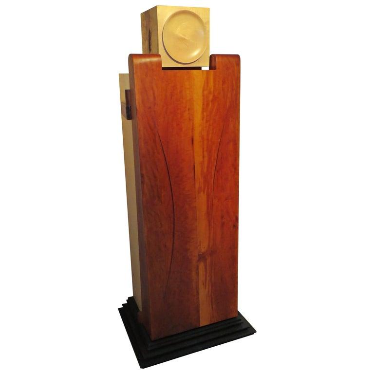 "Furniture Sculpture ""Cabinet-Man"" Solid Wood, One of Kind For Sale"
