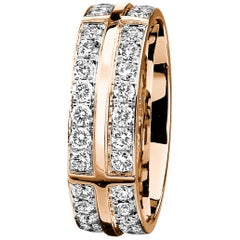 Furrer Jacot 18 Karat Rose Gold Diamond Eternity Band