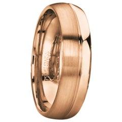 Furrer Jacot 18 Karat Rose Gold Men's Wedding Band