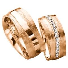 Furrer Jacot 18 Karat Rose Gold Uneven Textured Band