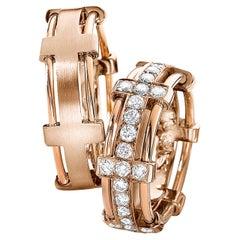 Furrer Jacot 18 Karat Rose Gold Wire Diamond Band
