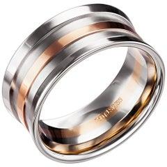 Furrer Jacot 18 Karat Two-Tone Chunky Ring