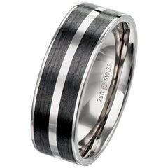 Furrer Jacot 18 Karat White Gold and Carbon Fiber Band