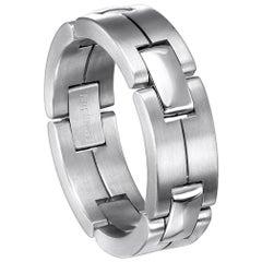 Furrer Jacot 18 Karat White Gold Matte Collapsible Link Ring