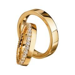 Furrer Jacot 18 Karat Yellow Gold 1.05 Carat Eternity Diamond Band