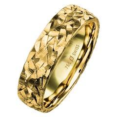 Furrer Jacot 18 Karat Yellow Gold Textured Band