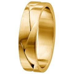 "Furrer Jacot 18 Karat Yellow Gold ""Origami"" Woven Men's Band"