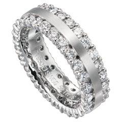 Furrer Jacot Platinum 2.10 Carat Two Row Eternity Diamond Band