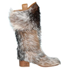 Furs boots with leather lining Chanel