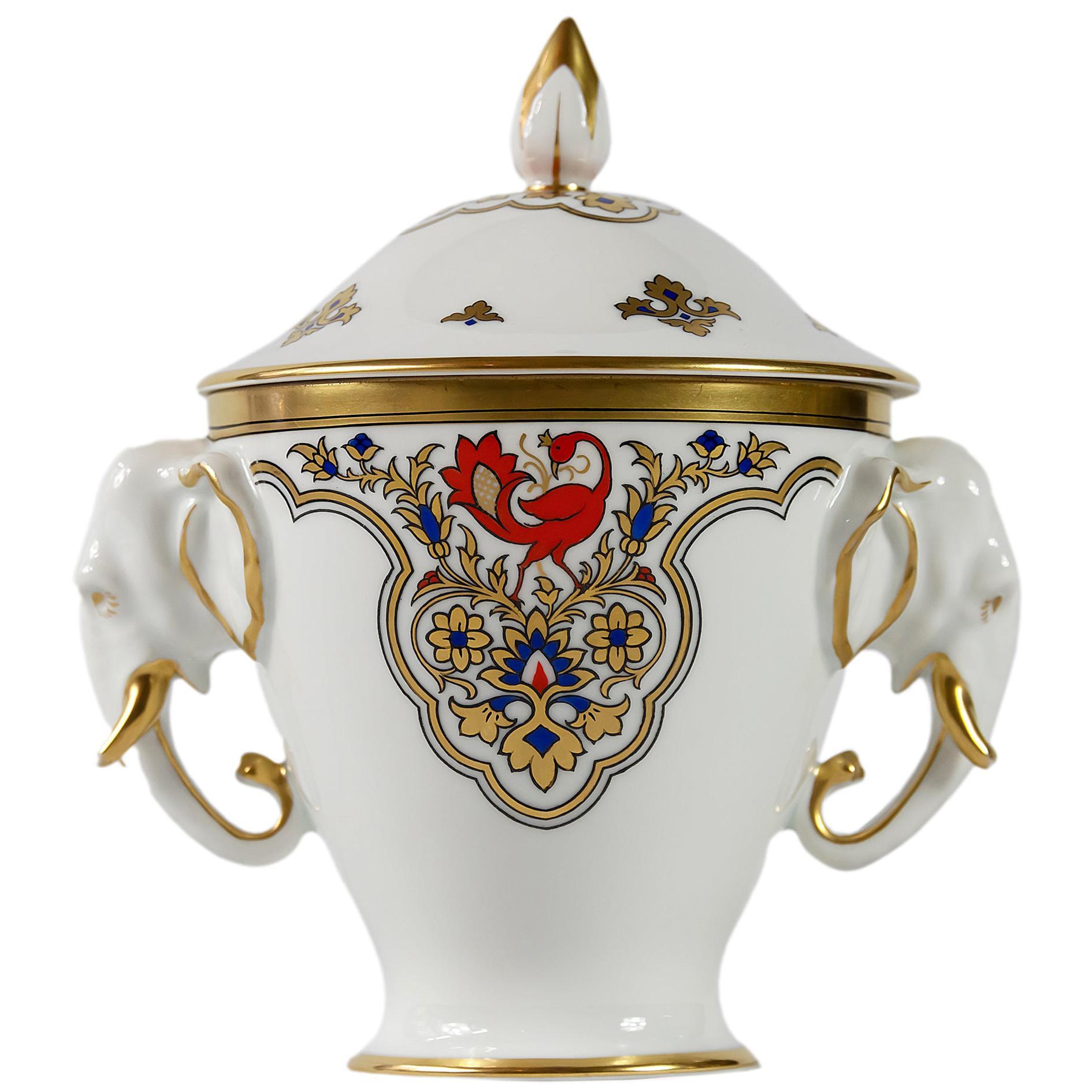Furstenberg Porcelain Sugar Bowl or Lid Dish