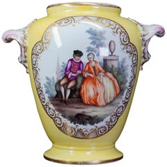 Furstenberg Vase with Fine Figure Painting, circa 1780
