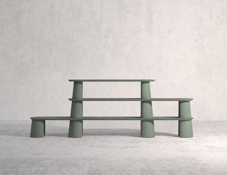 Cast 21st Century Studio Irvine Fusto Bookcase Mod.I Concrete Bookshelf Beige Cement For Sale