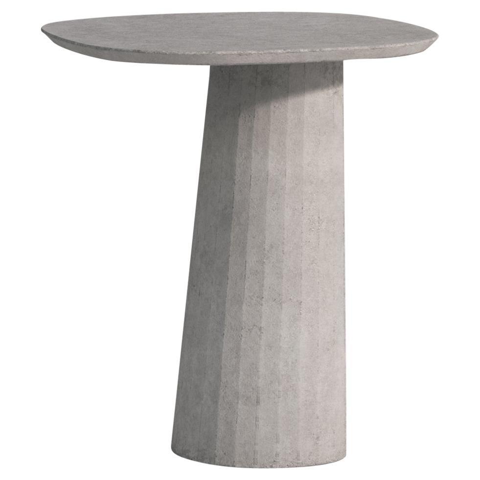 21st Century Studio Irvine Fusto Concrete Coffee Side Table Silver Grey Mod. III