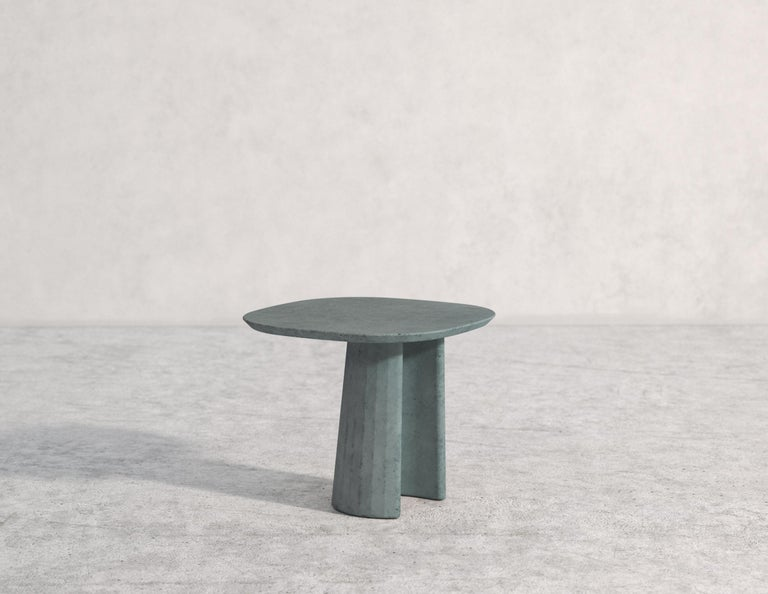 21st Century Studio Irvine Concrete Coffee Side Table Silver Grey Cement Mod.I For Sale 4