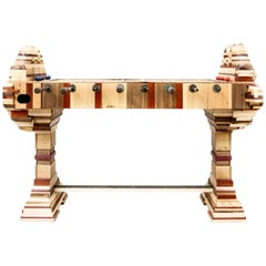 'Futbolin' Foosball Game Table in Blended Woods by Hillsideout