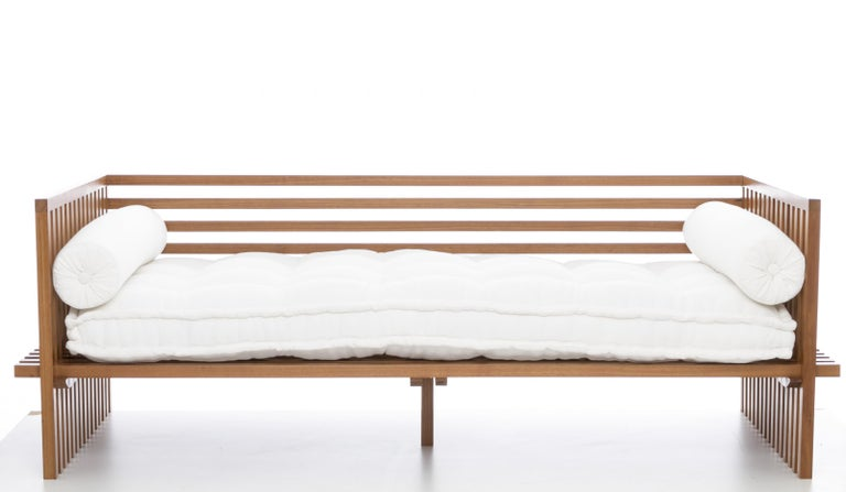 Futon Daybed Sofa, Contemporary Japanese Style Sofa in Solid Wood Structure 2