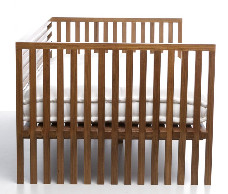 Futon Daybed Sofa, Contemporary Japanese Style Sofa in Solid Wood Structure 3