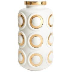 Futura Gilded Circles Vase