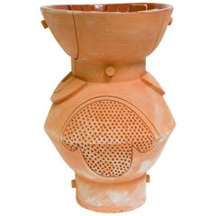 Futurist Primitive Extra Large Double Circle Terracotta Planter