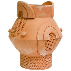 Futurist Primitive Terracotta Planter