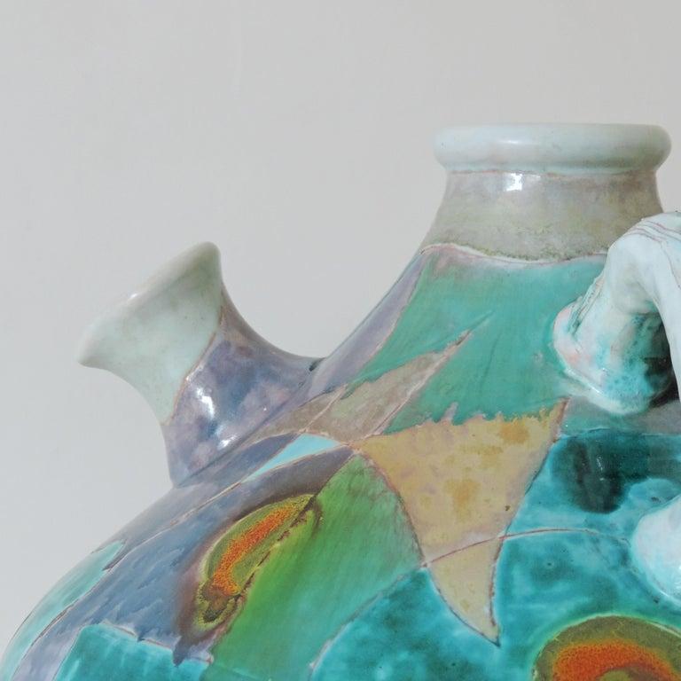 Futurist Torido Mazzottimonumental vase for M.G.A, Albisola, 1955.