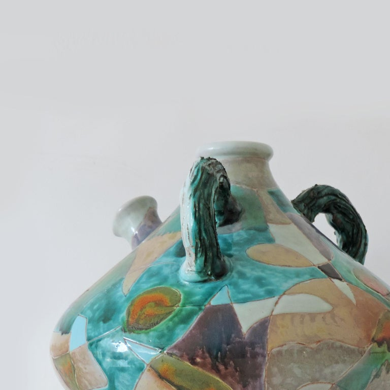 Mid-Century Modern Futurist Torido Mazzotti Monumental Vase for M.G.A, Albisola, 1955 For Sale