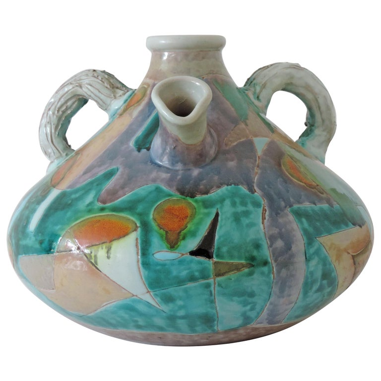 Futurist Torido Mazzotti Monumental Vase for M.G.A, Albisola, 1955 For Sale