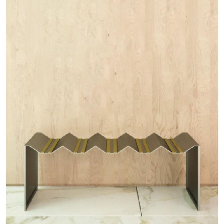 Modern Futuristic Bench by Ana Volante Studio For Sale