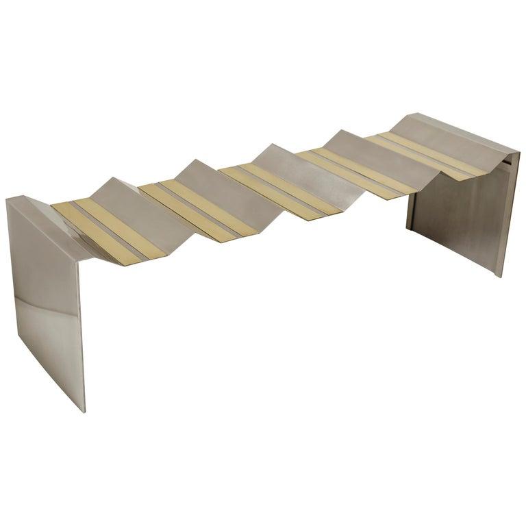 Futuristic Bench by Ana Volante Studio For Sale