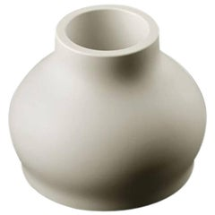 Fuzzy Vase in Matte White Polyethylene by Eddy Antonello for Plust