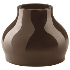 Fuzzy Vase in Metallized Coffee Polyethylene by Eddy Antonello for Plust