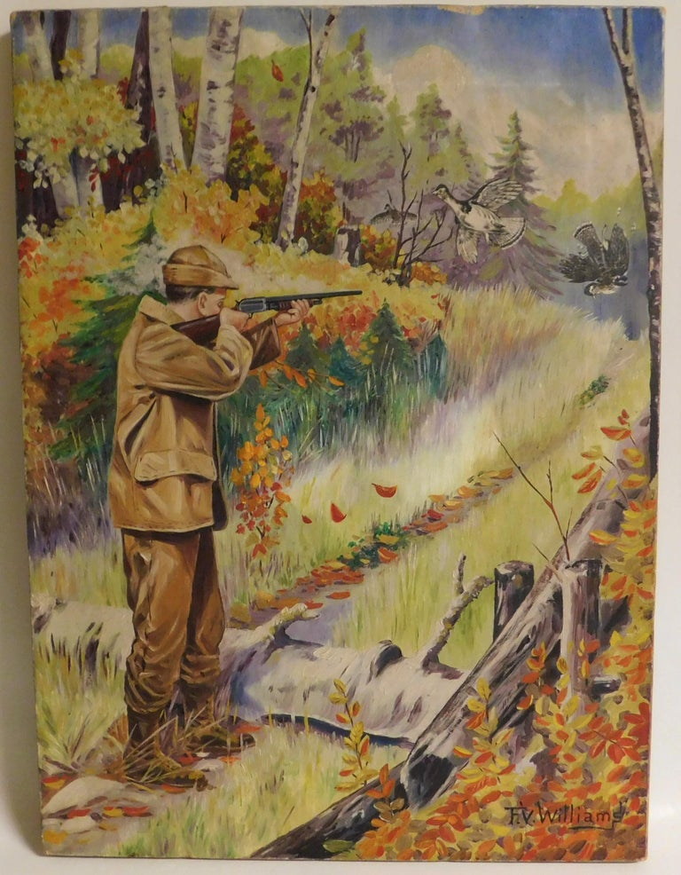 F.V. Williams Oil on Canvas Pheasant Hunting Painting In Good Condition For Sale In Hamilton, Ontario