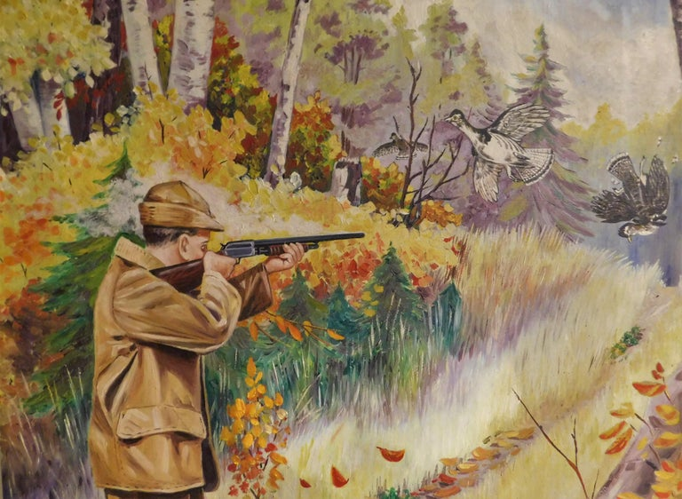 F.V. Williams Oil on Canvas Pheasant Hunting Painting For Sale 1