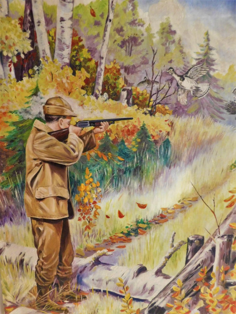F.V. Williams Oil on Canvas Pheasant Hunting Painting For Sale 2