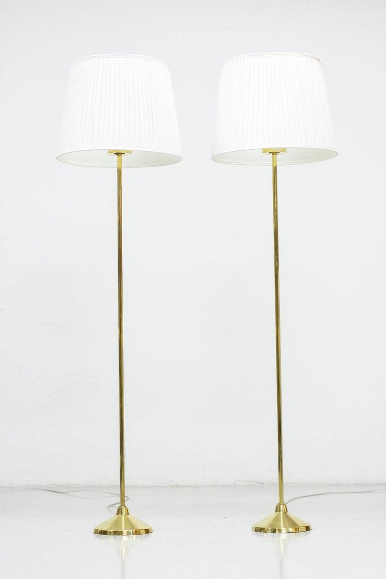 Pair of floor lamps model