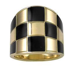 G. Bulgari Gold and Enamel Enigma Ring