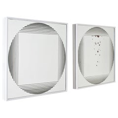 "G. Celada for Fontana Arte ""Brama"" Illuminated Mirror, Set of 2, Italy, 1970s"