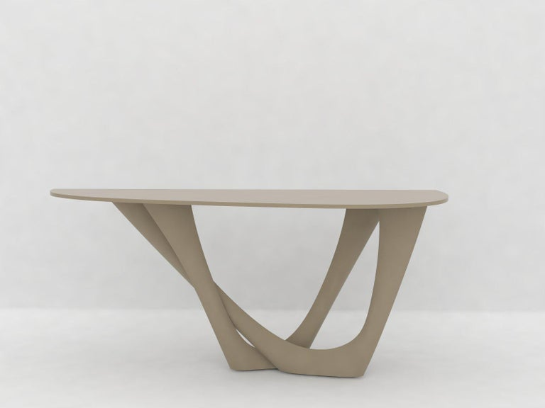 G-Console Duo Table in Brushed Stainless Steel by Zieta For Sale 1