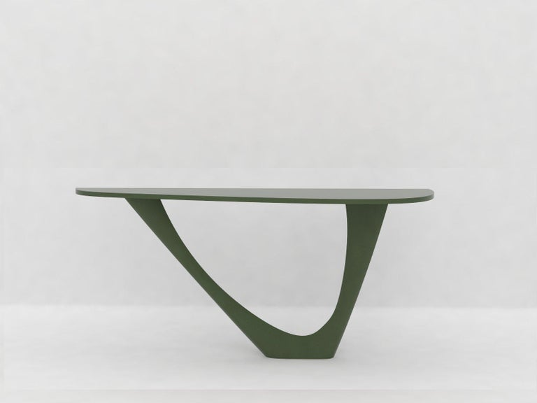 G-Console Mono Table in Powder-Coated Steel with Concrete Top by Zieta For Sale 4