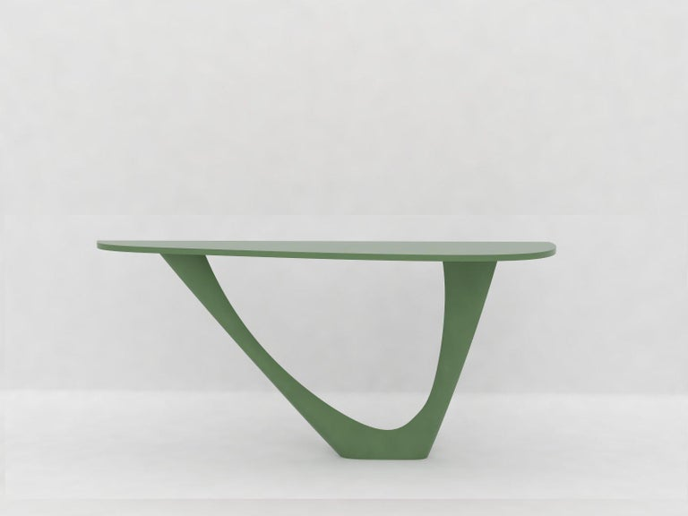 G-Console Mono Table in Powder-Coated Steel with Concrete Top by Zieta For Sale 5
