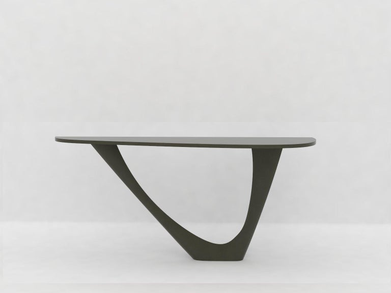 G-Console Mono Table in Powder-Coated Steel with Concrete Top by Zieta For Sale 6