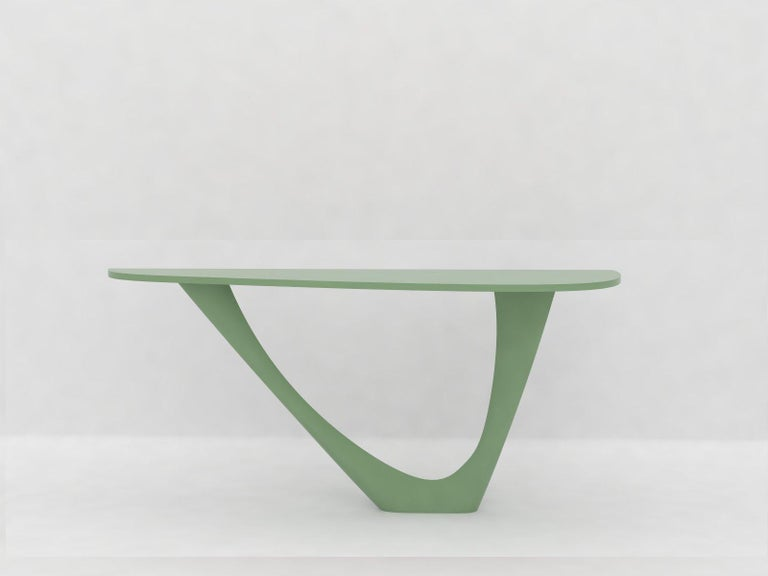 G-Console Mono Table in Powder-Coated Steel with Concrete Top by Zieta For Sale 7