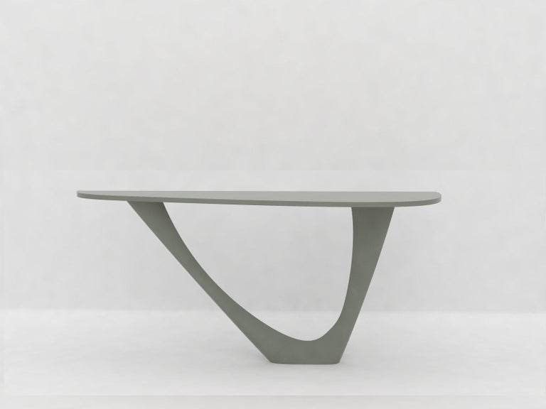 G-Console Mono Table in Powder-Coated Steel with Concrete Top by Zieta For Sale 8