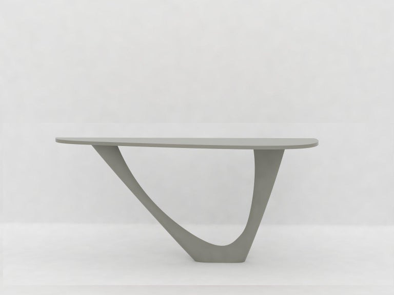 G-Console Mono Table in Powder-Coated Steel with Concrete Top by Zieta For Sale 9
