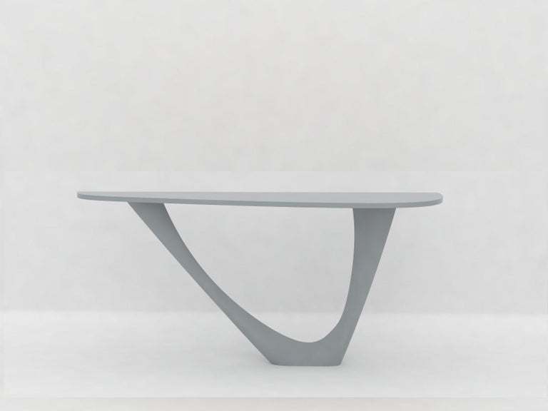 G-Console Mono Table in Powder-Coated Steel with Concrete Top by Zieta For Sale 10