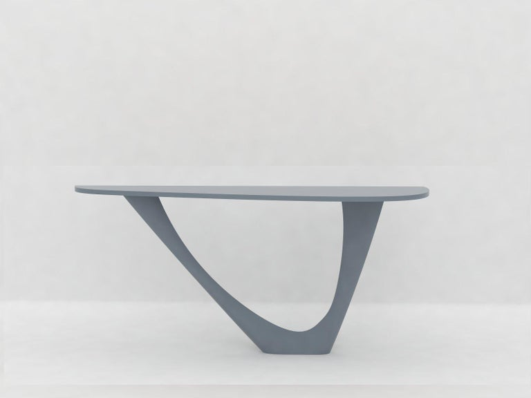 G-Console Mono Table in Powder-Coated Steel with Concrete Top by Zieta For Sale 11